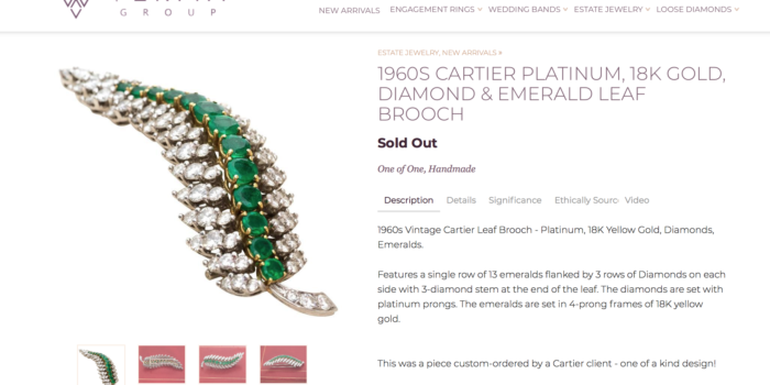 Cartier Jewelry Diamond Brooch