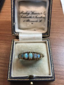 antique pan ring in box